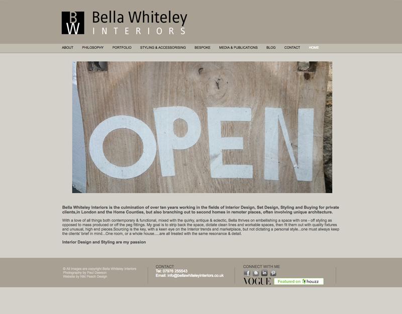 Interior Designer Website Bella Whiteley Interiors