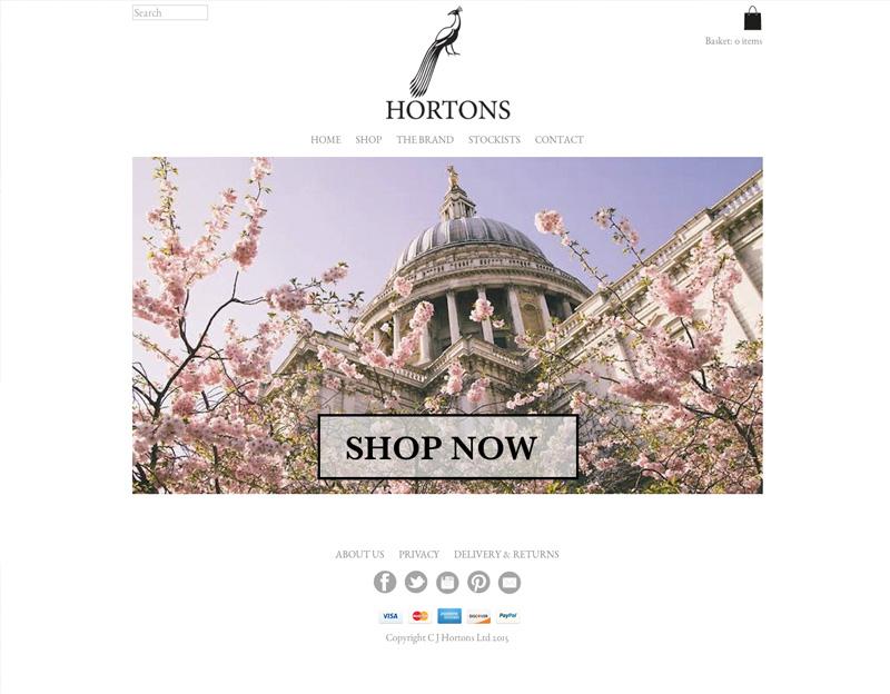 Hortons England online shop