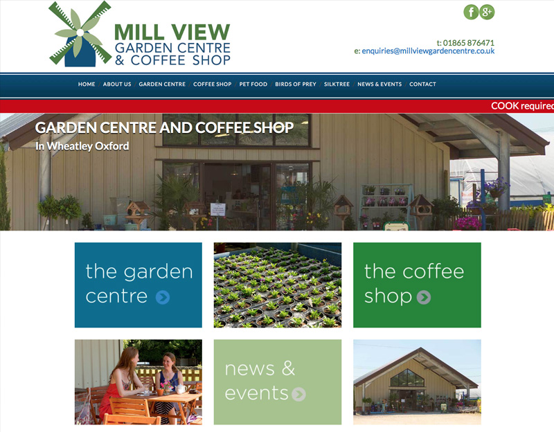 Mill View Garden Centre Website