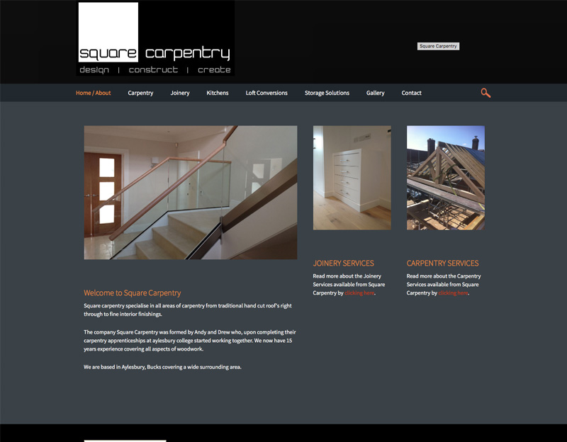 Square Carpentry brochure website