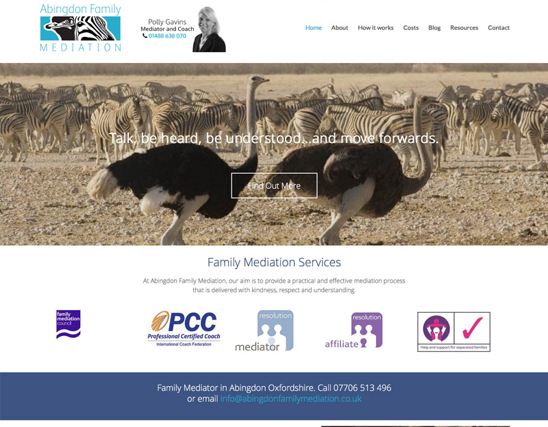 Abingdon Family Mediation website