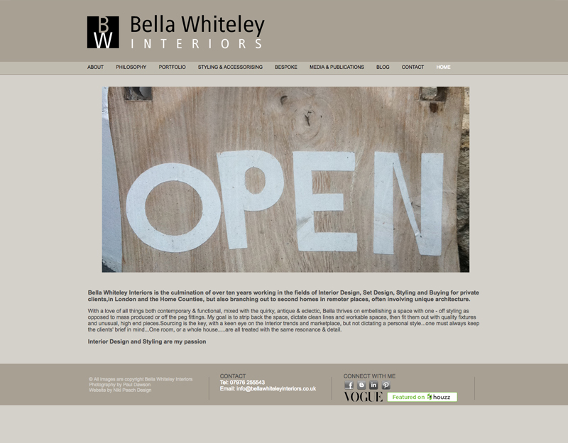 Interior Designer Website Bella Whiteley Interiors