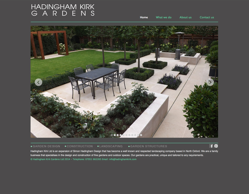 landscape gardener website