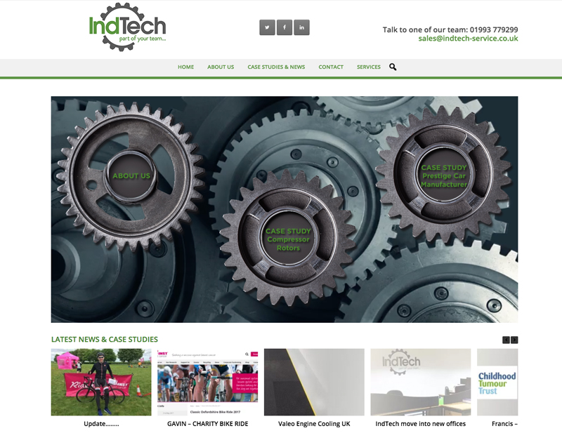 Indtech brochure website oxford