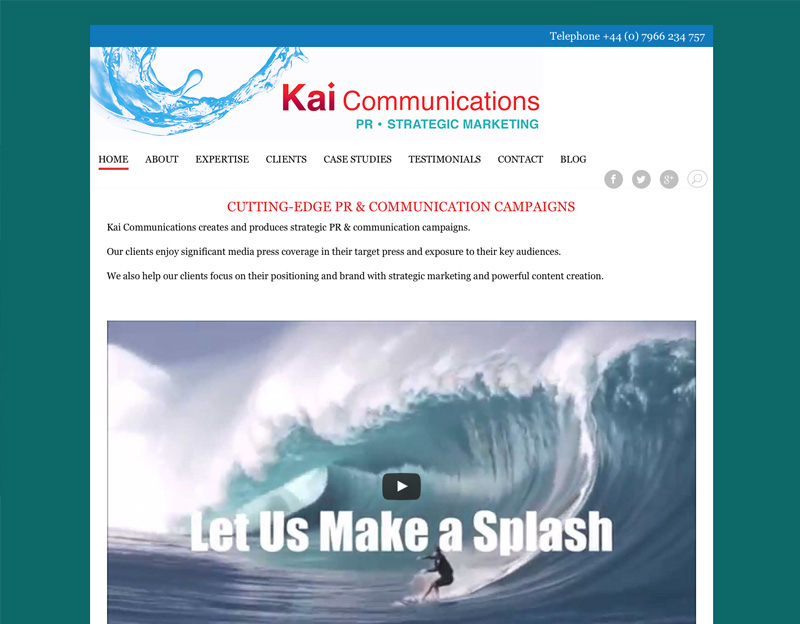 Kai Communications online brochure website