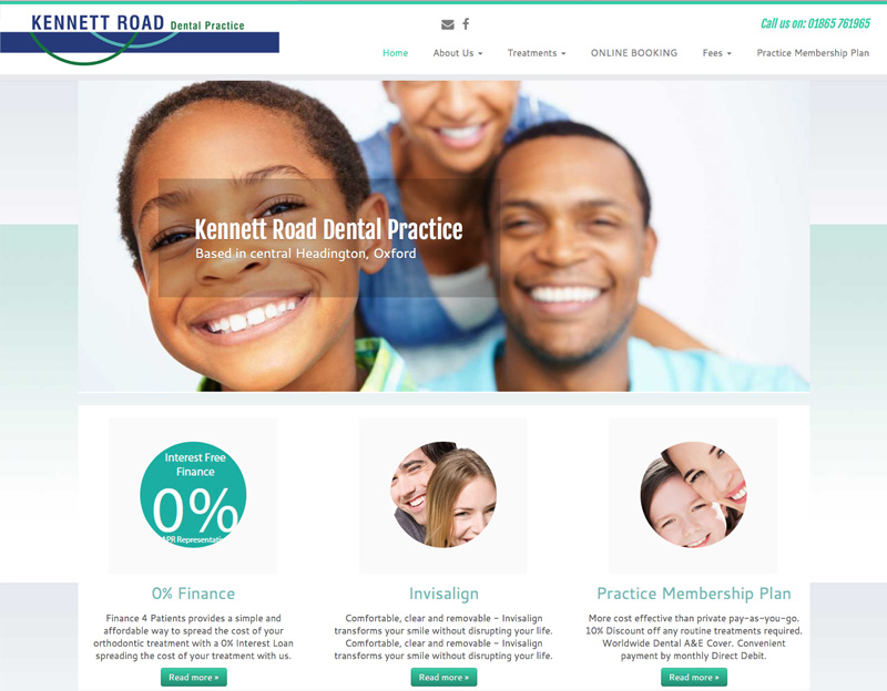 Kennet Road Dental Practice website with online appointment booking
