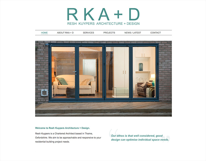 RKA & D architect website