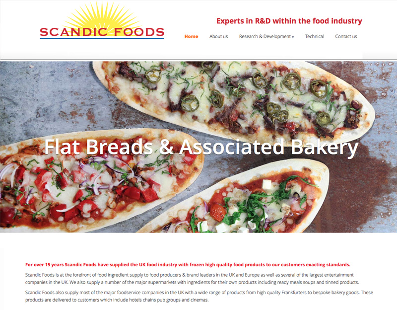 Scandic Foods Brochure website