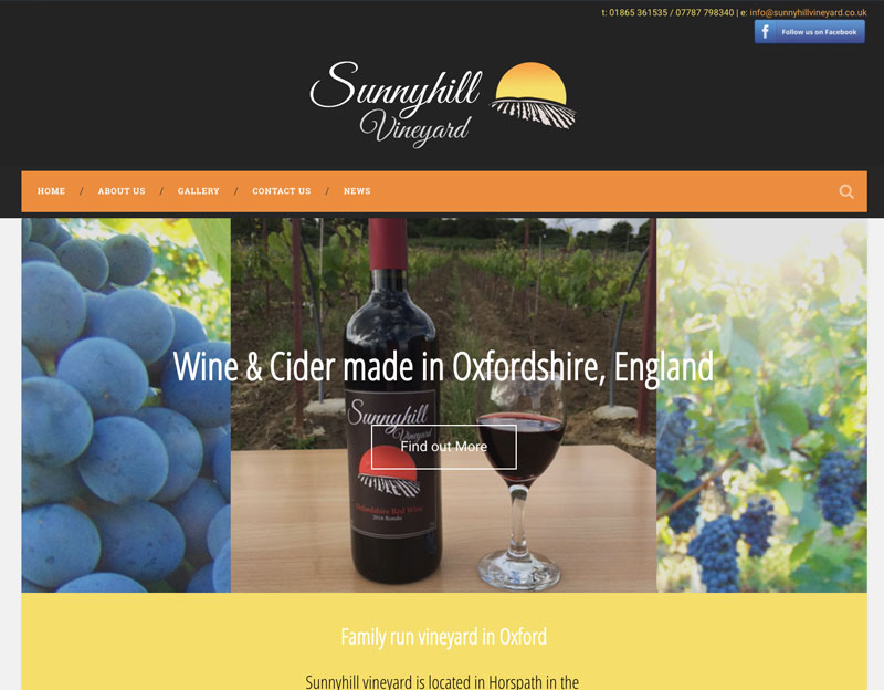 Sunnyhill Vineyard, logo and website creation