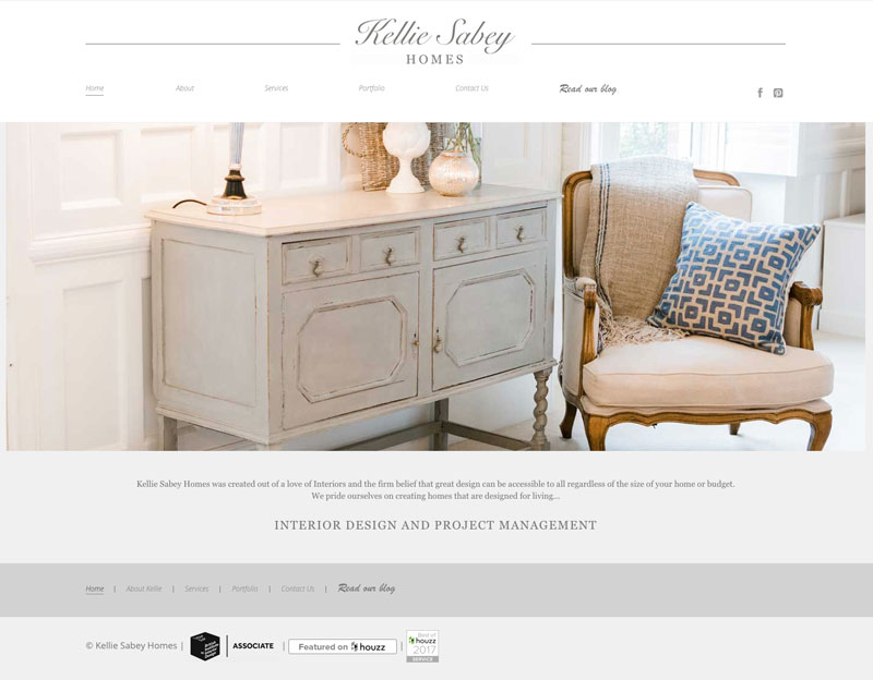 Kellie Sabey Homes Interior Design wordpress site