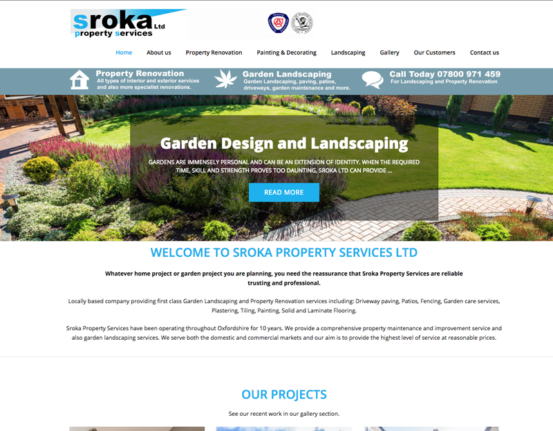 Website for Sroka Property Services