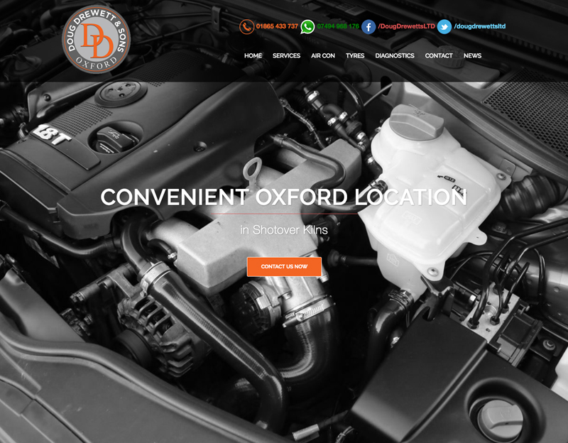 Doug Drewett Garage website Oxford