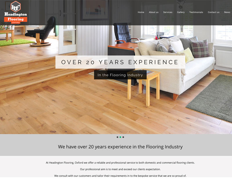 wordpress website for local flooring company headington flooring