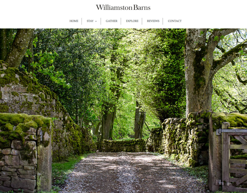 New website for Williamston Barns.
