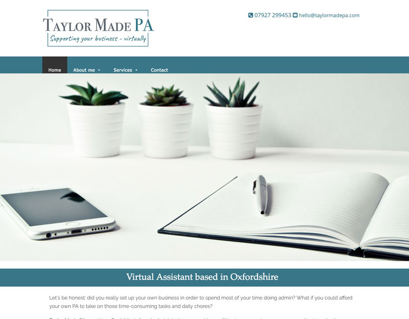 website and logo design for Taylor Made PA