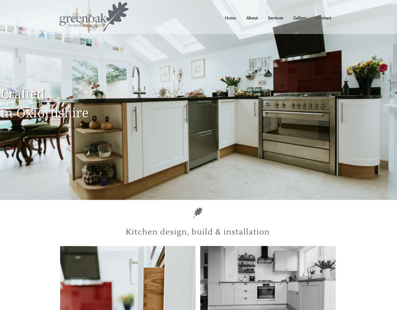 New website for Greenoak Kitchens