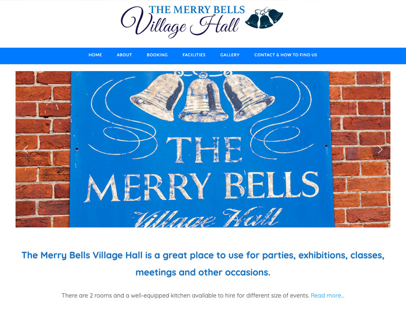 Merry Bells Village Hall Wheatley, new website