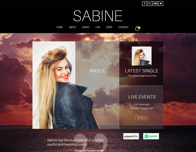 SABINE, new website