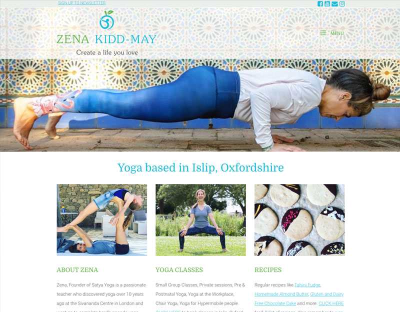 New website for Zena Kidd-May