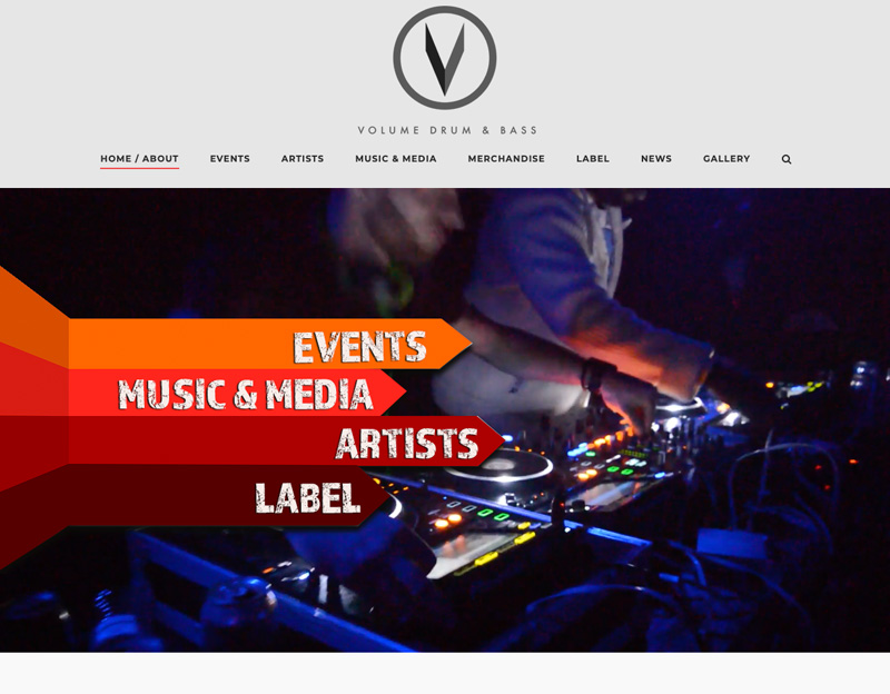 New website for volume dnb