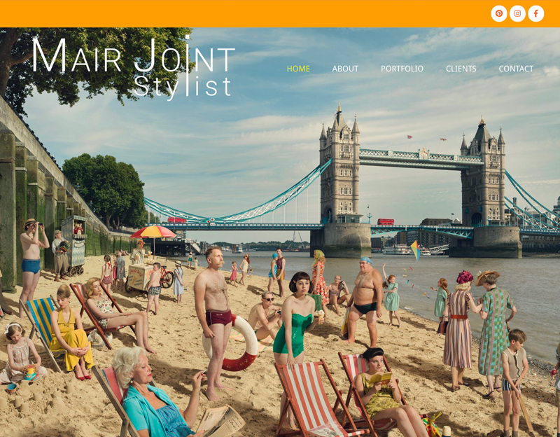 New website for mair joint stylist