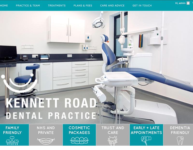 Kennet Road Dental Practice website