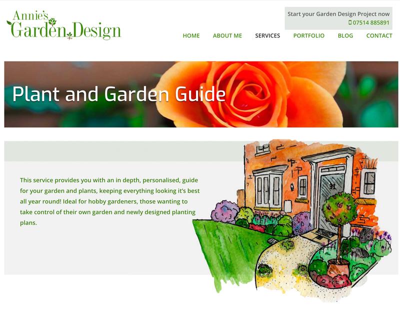 Annie's Garden Design Website