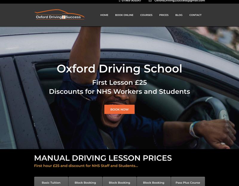 Oxford Driving 2 Success website