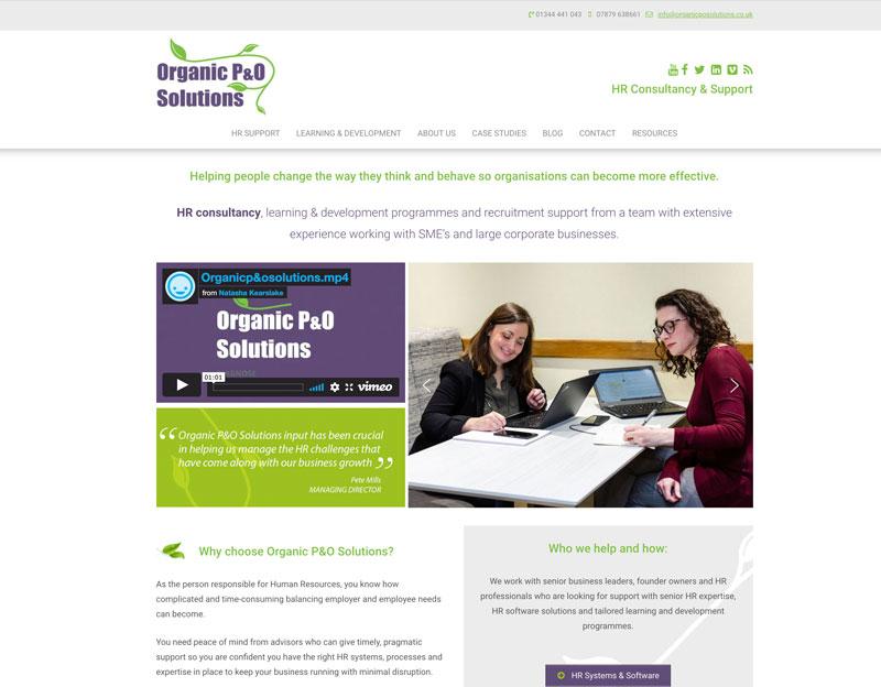 Organic P&O Solutions WordPress website