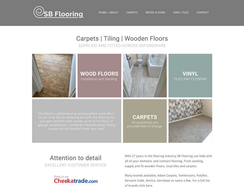 New website for SB Flooring Oxfordshire