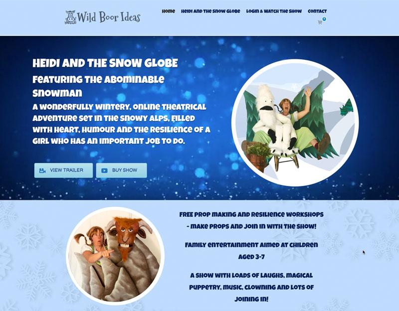 Website for Wild Boor Shows